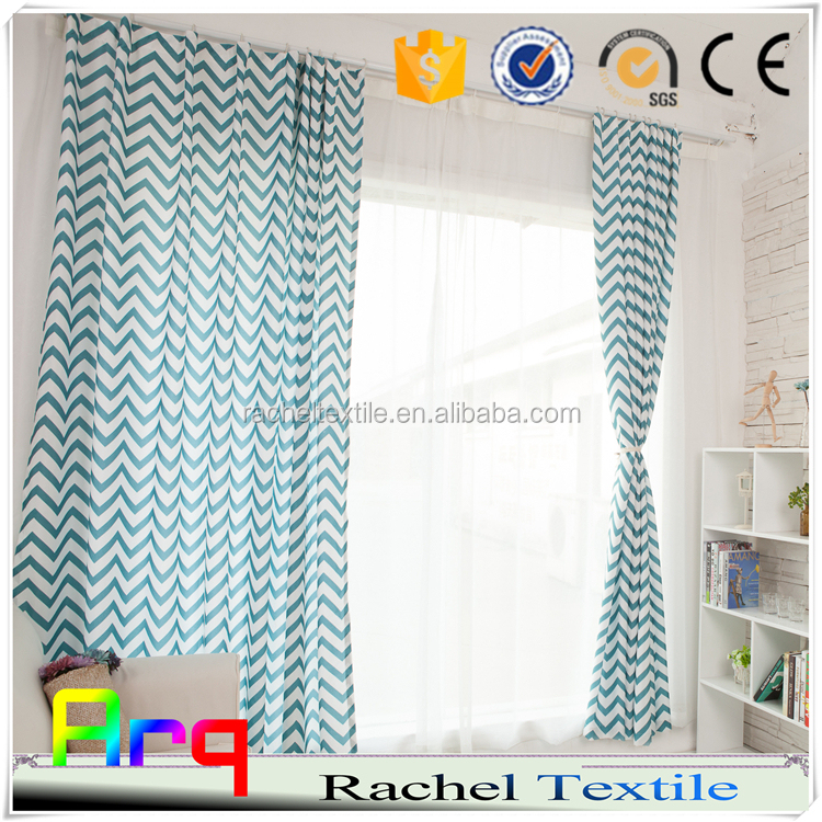 new designed light printed curtain simple modern city style for living room/ window using