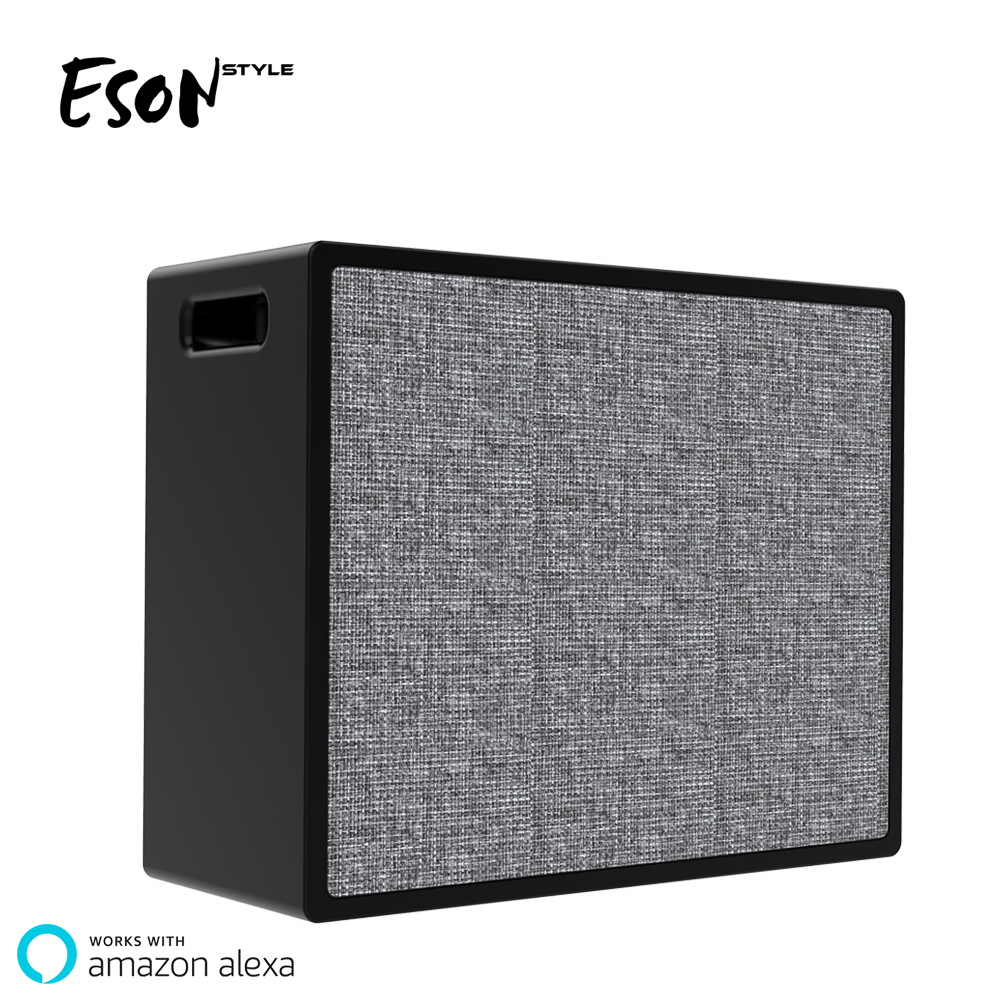 Eson Style Smart Speaker Alexa Voice App Control Mini Wifi Home System  Audio Portable Fabric Ip56 Bluetooth Speaker Car Stereo - Buy Smart Speaker