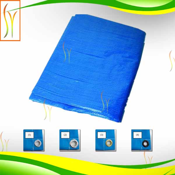 rope eyelet and four corner reinforcement 4*6 yard pe tarpaulin sheet