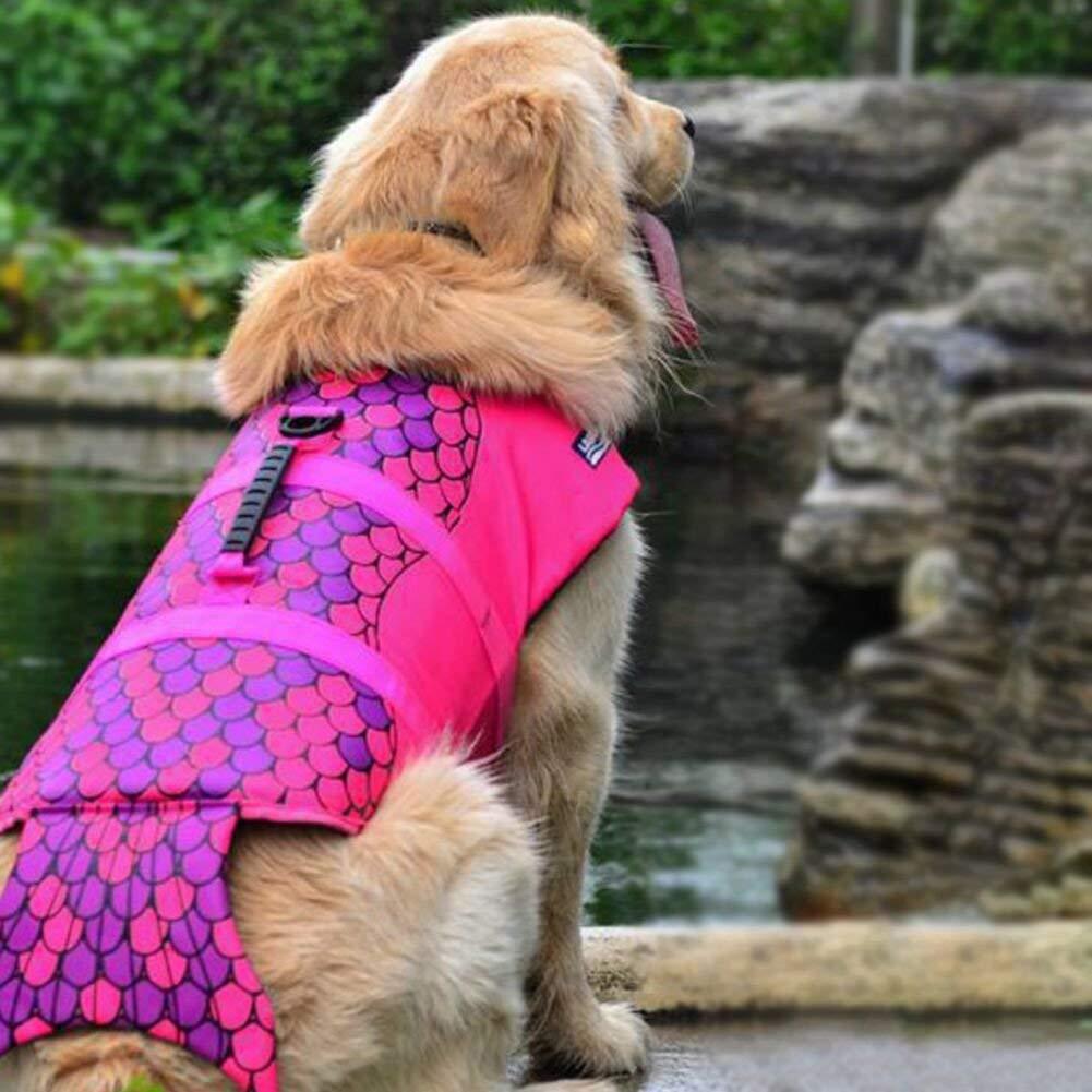 Chicdog Dog Life Vests for SwimmingService Dog Vest Big Fish Pet Life Vest Dog Life Jackets Vest Outdoor Rescue Dog Swimming Jacket Summer Wear