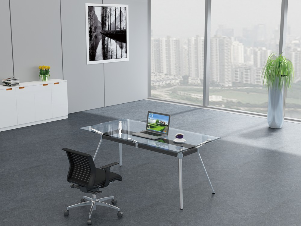 Guangdong Glass Office Furniture Simple Glass Table Modern