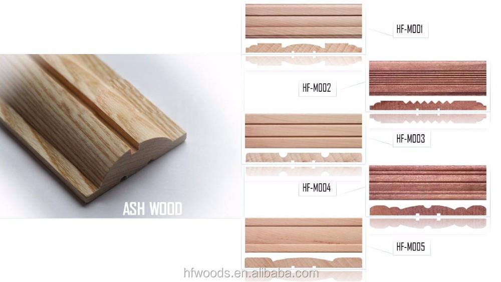 FSC Amercia Primed Decorative Wooden Trim MDF Moulding Furniture Ornamental Wood  Moulding