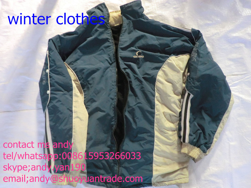 second hand winter ladies coats/sale lady winter used clothes factories in guangzhou