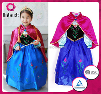 Cartoon character Elsa frozen costume 2016 TV&Movie costume hot selling frozen princess costume