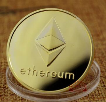 ETH Ethereum Coin Virtual Currency Coins Made with <strong>Metal</strong> Plated by Gold and Silver Available