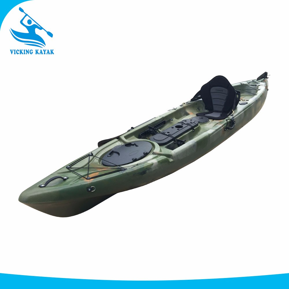 Deluxe configuration angle fishing kayak with center for Fishing from a kayak