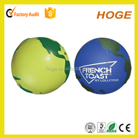 Full Colour Printed Anti Earth Globe Stress Ball Toy