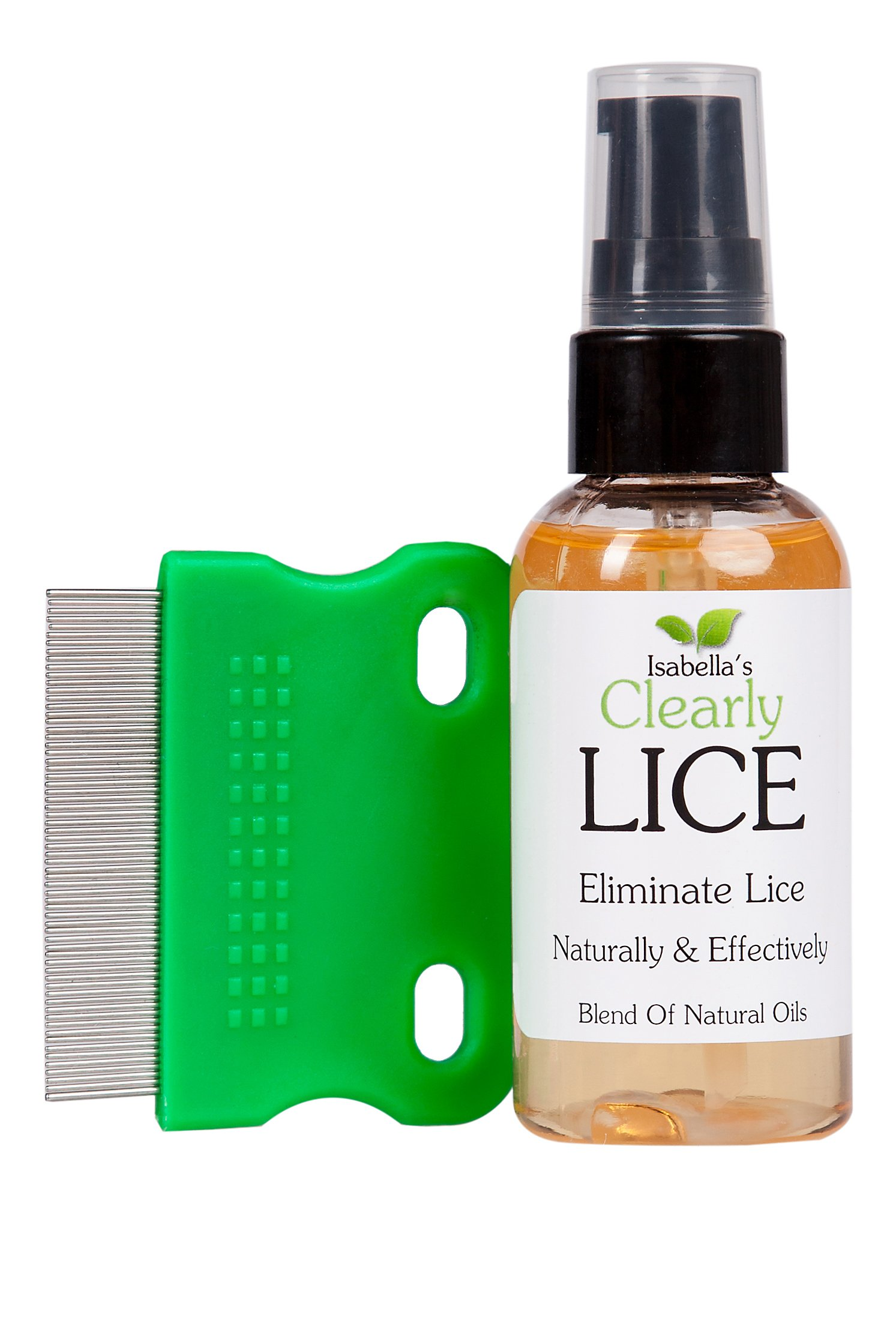 Isabella's Clearly LICE, Powerful Lice Treatment with Natural Oils Proven to Eliminate Lice and Nits. No Toxics or Harsh Chemicals. FREE Metal Lice Comb. Safe for Kids & Adults. 2 Oz