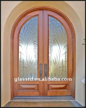 Lovely Full Of Texture Glass Door With Modern Style