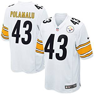 4274cca8 Get Quotations · Pittsburgh Steelers Troy Polamalu #43 Youth Game Jersey,  White