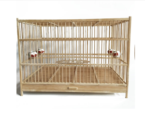 Wholesale cheapest bamboo bird cage wooden rectangle cages wood cage