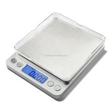 Multi Function Electronic Compact Weighing Pocket Mini Jewelry Scale with Two Tray