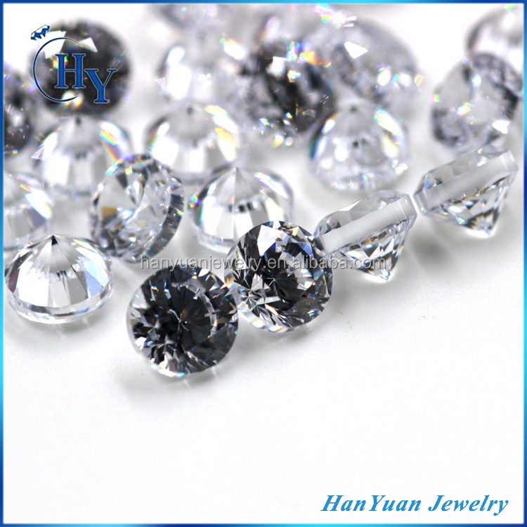 New product cz stones 6mm 30% thick girdle heavy cubic zirconia for jewelry making