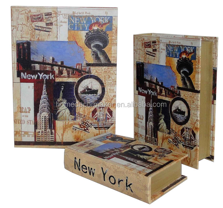 With Antique New York Design Book Shaped Gift Box