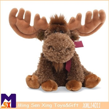 2015 hot selling christmas moose stuffed and plush toyschristmas moose decorations - Christmas Moose