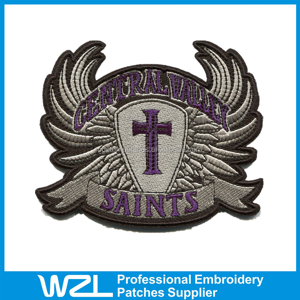 High quality Embroidered Patches custom iron on patches for hats