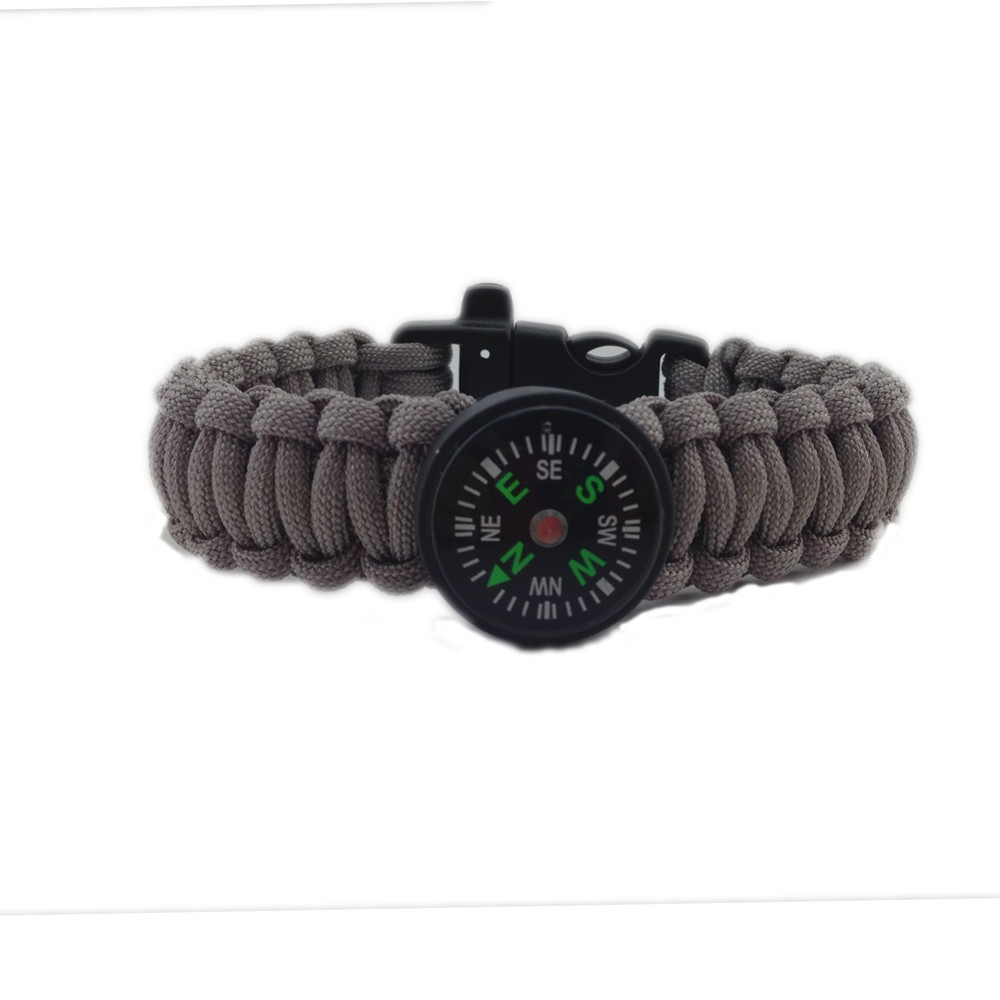 camping 2016 paracord bracelet with compass and fire starter whistle buckle survival bracelet