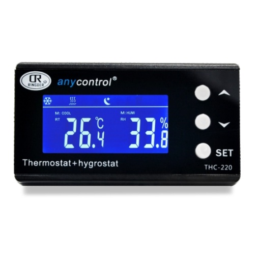 RINGDER THC-220 Digital Temperature and Humidity Controller Digital Hygrothermostat for Greenhouse