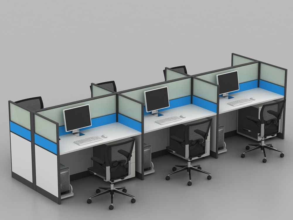 Blue white 4 seat funky office furniture for wholesale for Funky office furniture