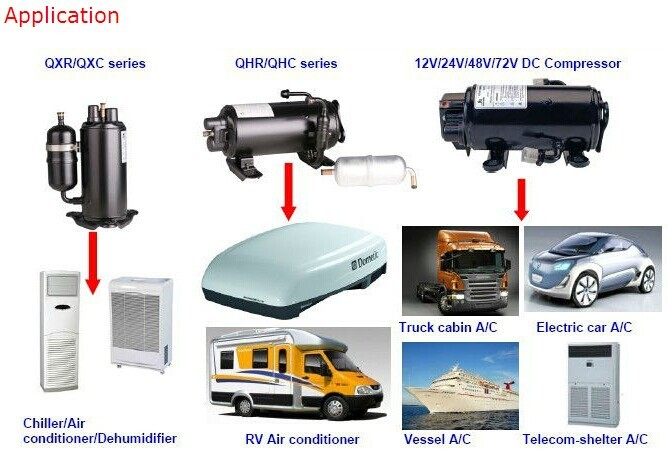 Dc 48v Solar Power Air Conditioner 12v 24v Battery Power