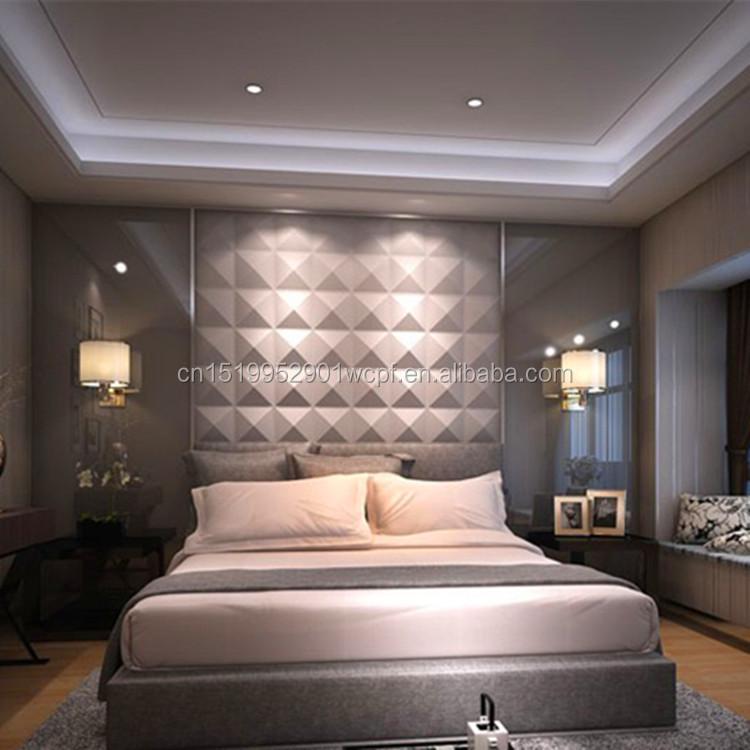 Leichte innendekoration PVC wandpaneele für schlafzimmer wand, 3D ...
