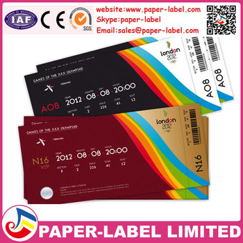 raffle ticket printing paper