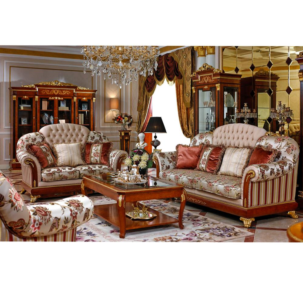 Yb38 Rich And Gorgeous Home Decor French Provincial Living Room Sofa Furniture Baroque Style Italian Set