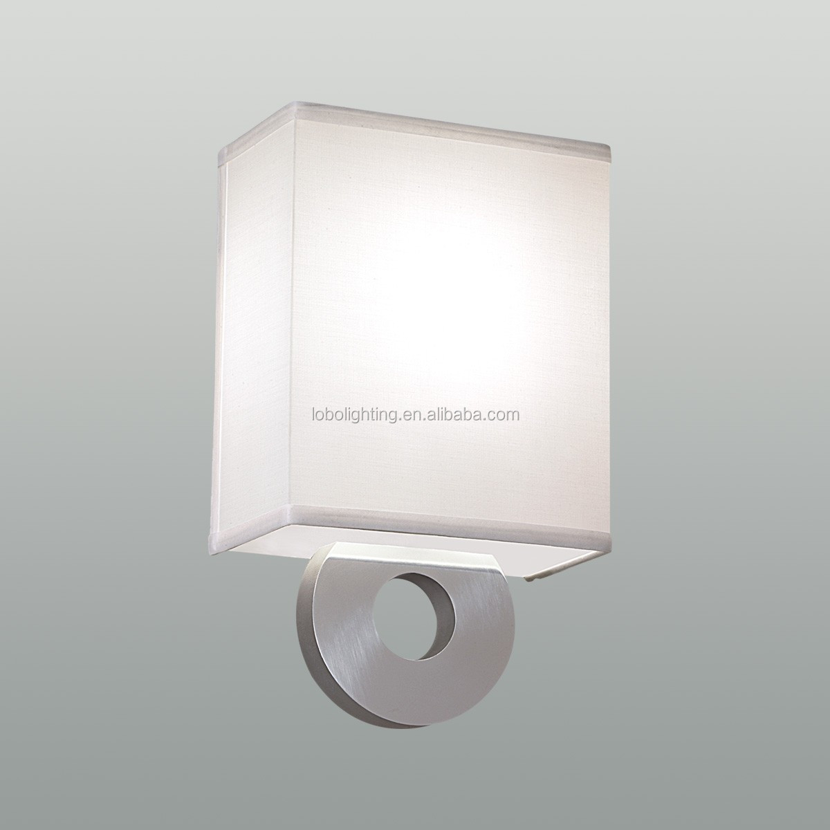 Hotel Double Wall Lamp with on/off rocker switch and power outlet at back plate