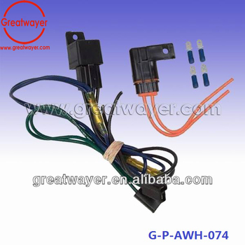 16awg 5 Pin Relay 250 Male Terminal Motorcycle Customer Wiring Harness on