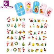 HOTSALE BJC026 Christmas water sticker Tip Nail Art Nail Sticker Nail Decal Manicure Mix Color nail tools+freeship