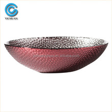 Mercury pink colored glass plates wholesale
