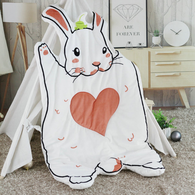 MISSU Super Soft Plush rabbit Bunny & Hedgehog PP cotton Filling Baby PLay Game Mat