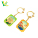 Customized trendy High quality Die casting Gold Chinese Flower pattern small Split Ring Accessory Metal Key Chain