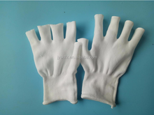 Nylon knitted working gloves without top fingers fashion gloves knitted funky gloves