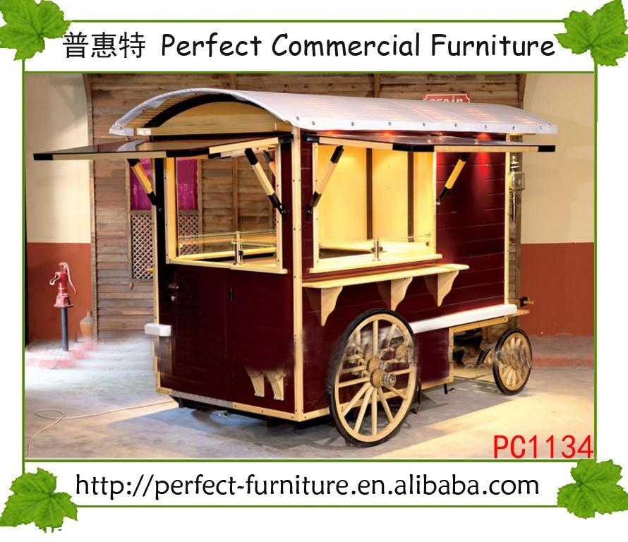 Mobile food carts for outdoor indoor popcorn cupcake for Indoor food kiosk design
