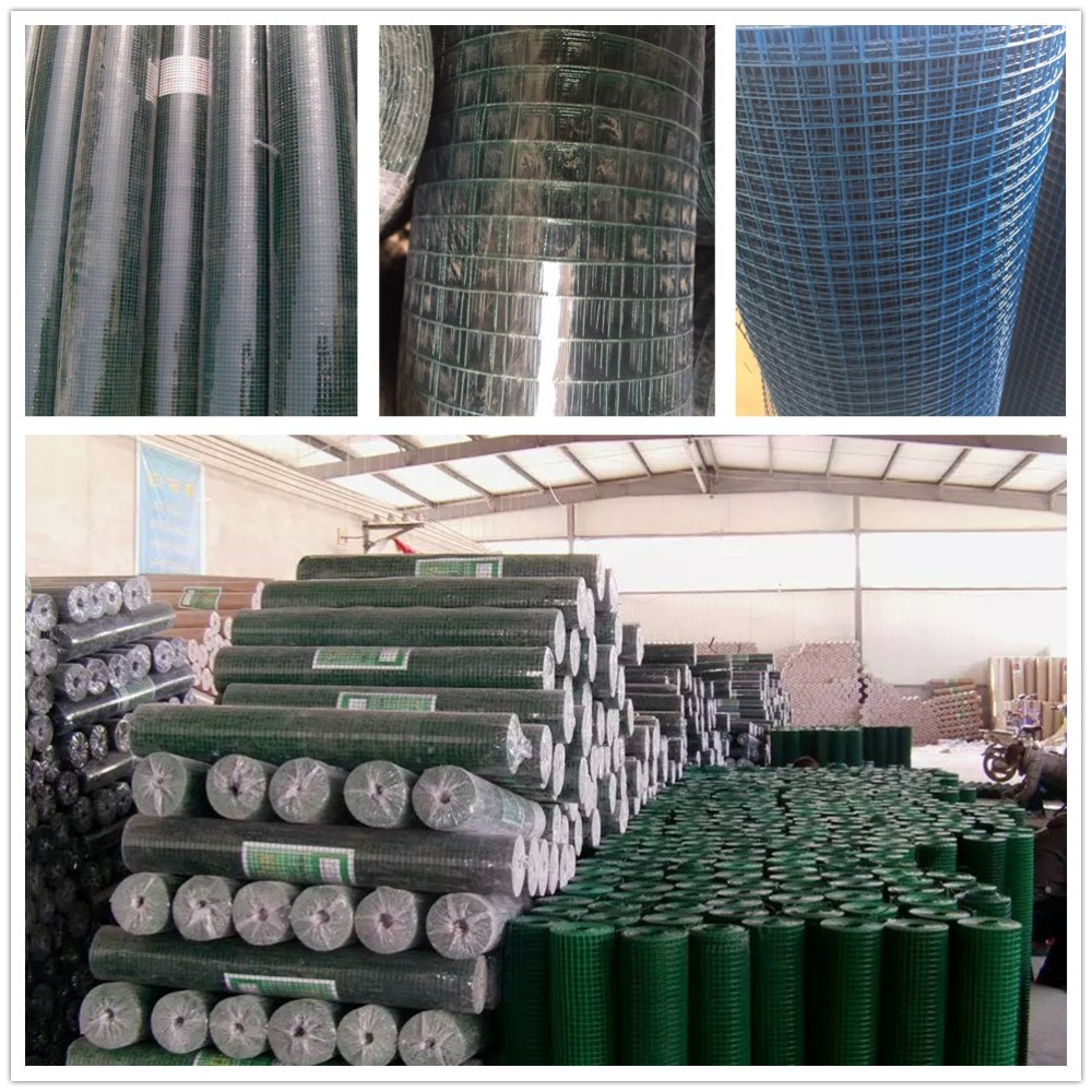 Alibaba professional cheap galvanized wire mesh rolls/1/2 inch square hole welded wire mesh/pvc coated welded