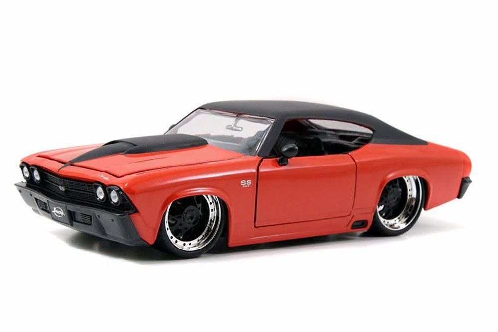 1969 Chevy Chevelle SS, Orange - JADA Toys 90056 - 1/24 Scale Diecast Model Toy Car