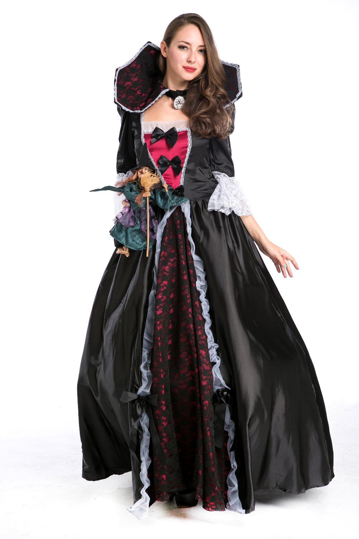 Get Quotations · Halloween Noble Vampire Queen Costumes Masquerade Luxury  Woman Vampire Costumes Classical Vampire Costumes For Women