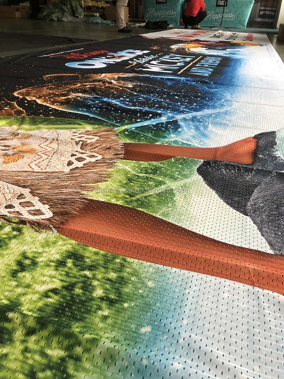 Cloth / Polyester / Fabric Mesh Flex Banner Printing