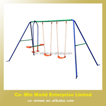 4 Seat Kids Metal Frame Swing Sets Outdoor Swing Chair Patio Swing - Buy Kids Metal Swing Sets,Outdoor Swing Chair,Patio Swing Product on Alibaba.com