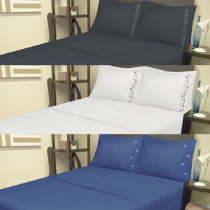 New European Style Bedding Set Microfiber Filling Bed Sheet Set
