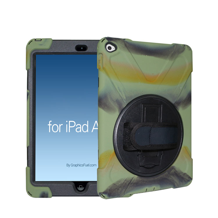 Full protective Shockproof rugged hybrid rubber TPU case for ipad air 2 Tablet Mini case cover
