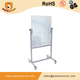 Freestanding moveable with wheel magnetic double side interactive dry erase glass whiteboard WB11 from Peacemounts