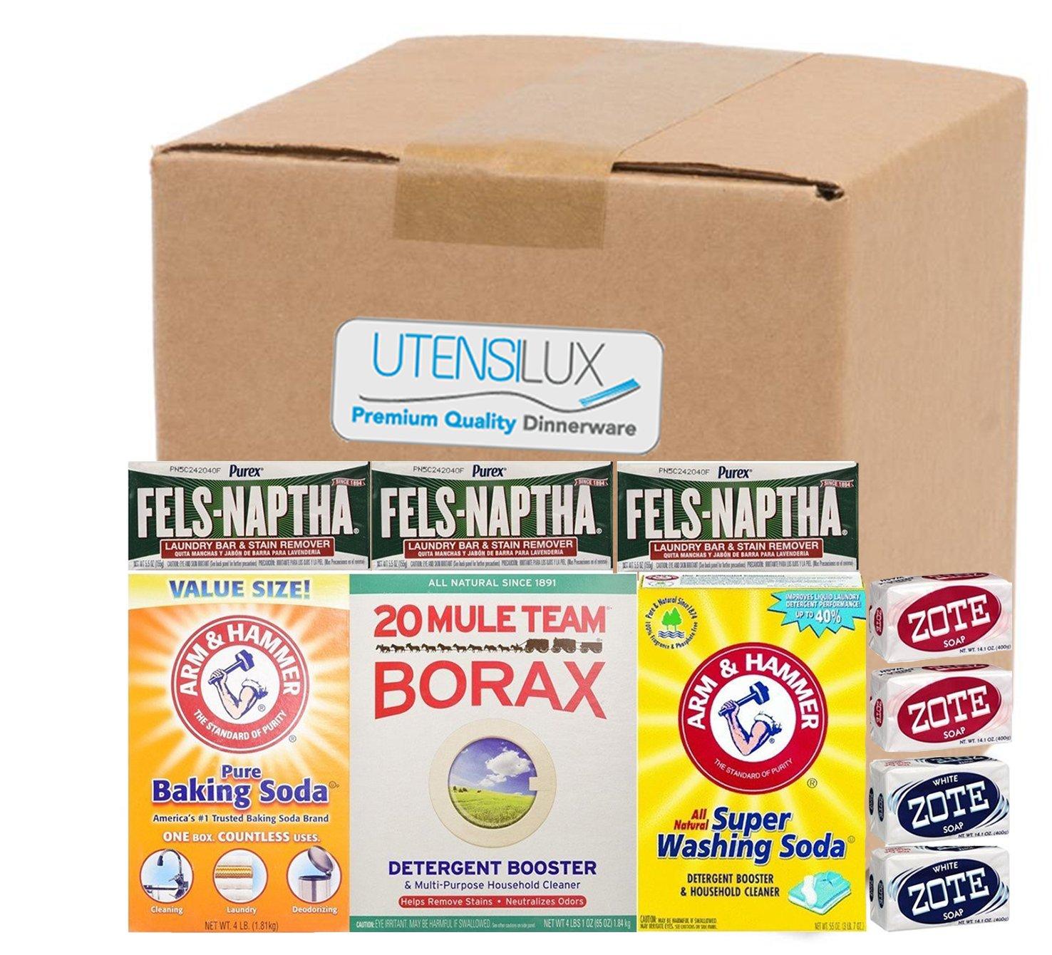 Buy Laundry Soap Kit Fels Naptha 3 Bars 20 Mule Team Borax