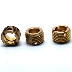 Mass Production slotted high end external thread C360 brass copper cnc turning tube parts