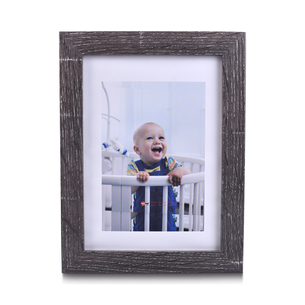 5x7 Customisable Home Wall Tabletop Decor Wholesale Cheap Wood Texture Rustic MDF Picture Frames