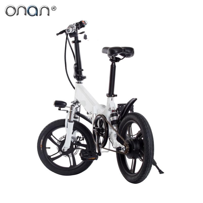 ONAN Electric Dirt Bike 14 Inch Bicycle 250W Mini Folding Electric Bike With LED Intelligent Display