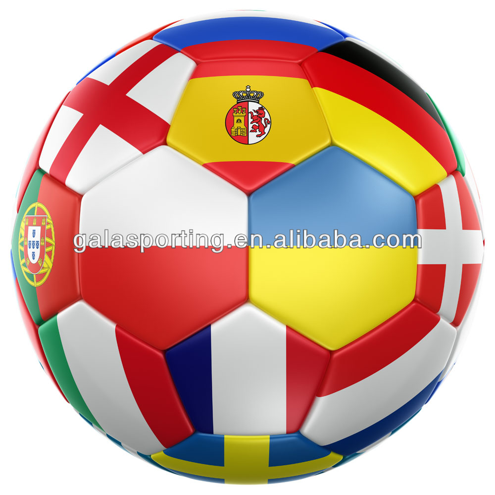 multi country flags promotion pvc soccer ball/football