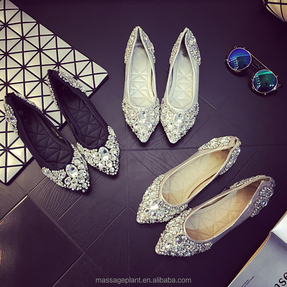 Wedding <strong>Shoe</strong> Flat, <strong>Shoe</strong> Bridal Wedding <strong>Shoe</strong>, Rhinestone <strong>Shoe</strong>