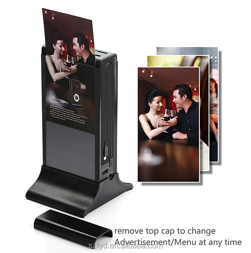 Free standing charging station Sumsung battery with AD player manufacture